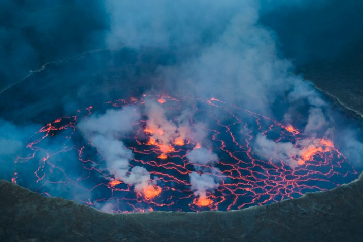 Nyiragongo, the Largest lava lake in the World!