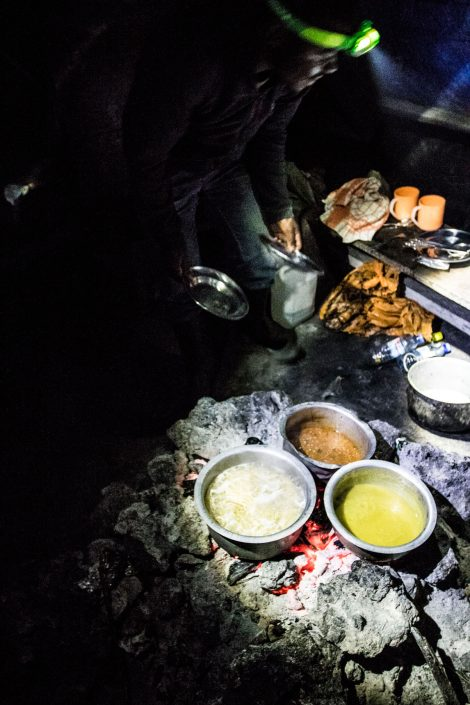 Dinner cooked for you at 3470m on top of a Volcano!